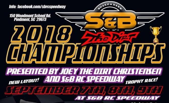 2018 S&B Championship set for September 7th-9th